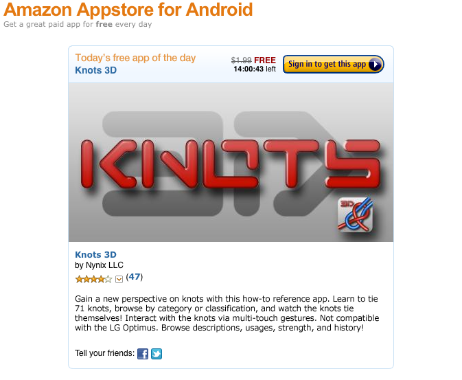 Knots 3D: Amazon Free App of the Day